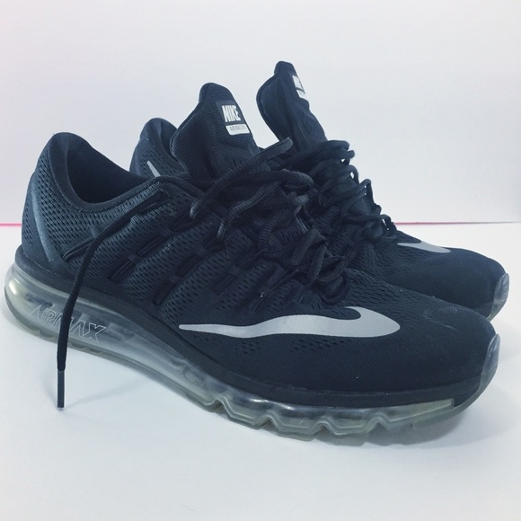 Nike Air Max 2016 Black Red White 806771 006 Mens Running Shoes 806771006
